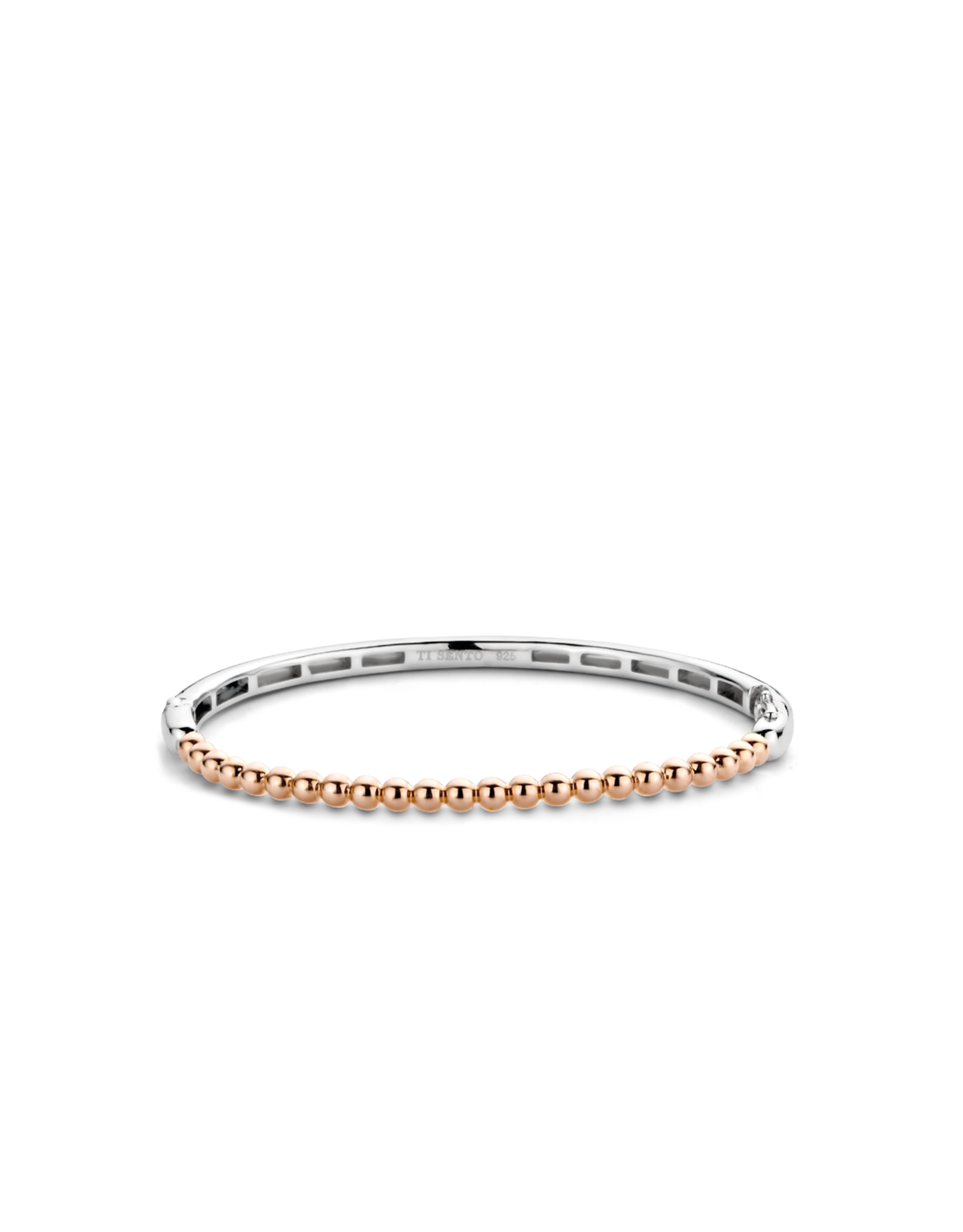 Thin Rose Gold Plated Bubble Bangle- 2944SR