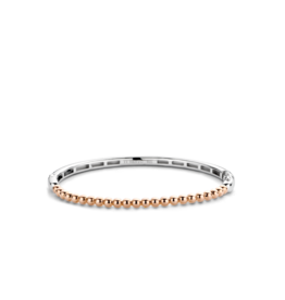 Thin Rose Gold Plated Bubble Bangle