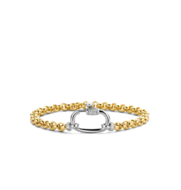 Yellow Gold Plated Silver Rolo Bracelet
