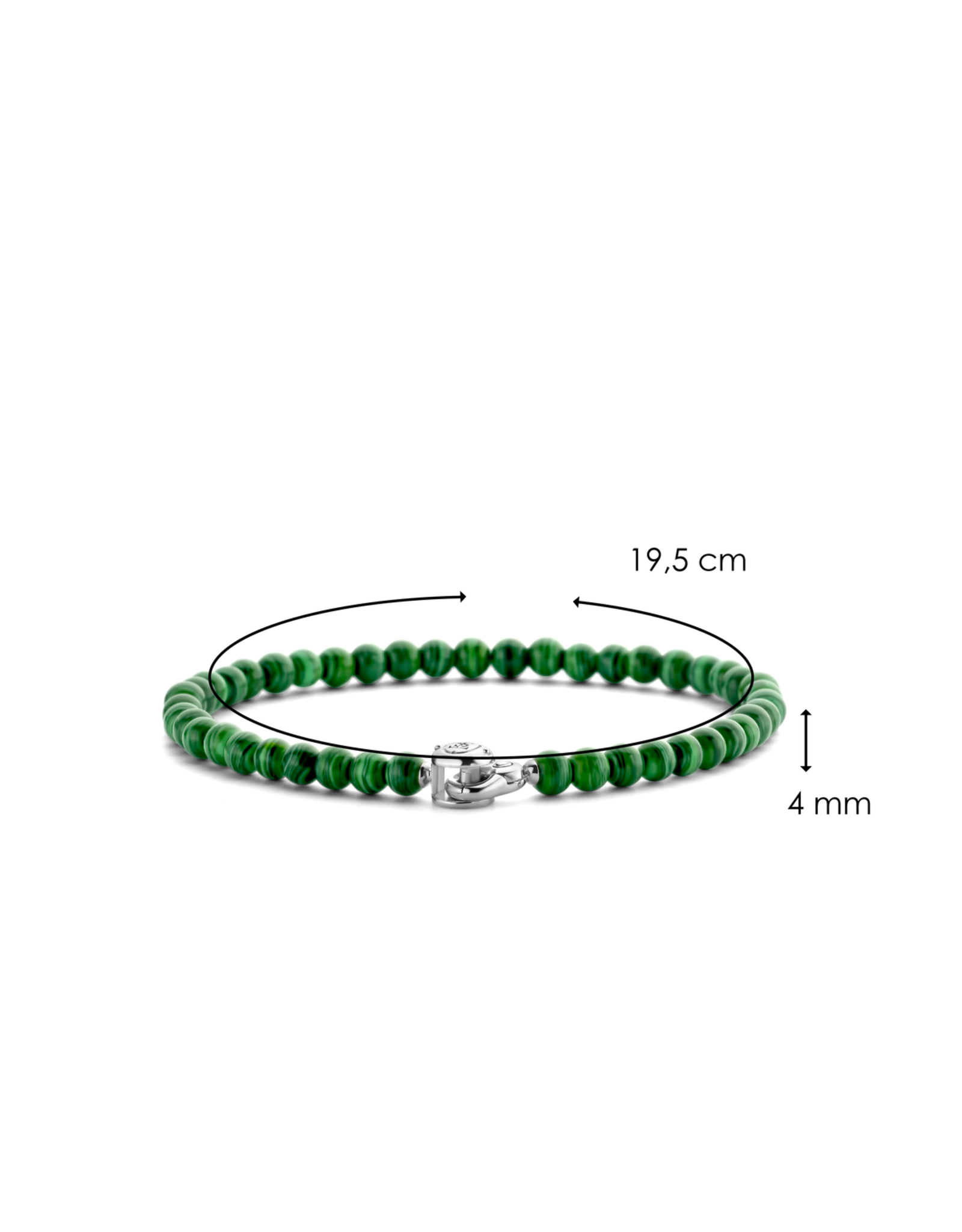 Dainty Malachite  Beaded Bracelet- 2908MA