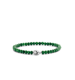 Dainty Malachite  Beaded Bracelet
