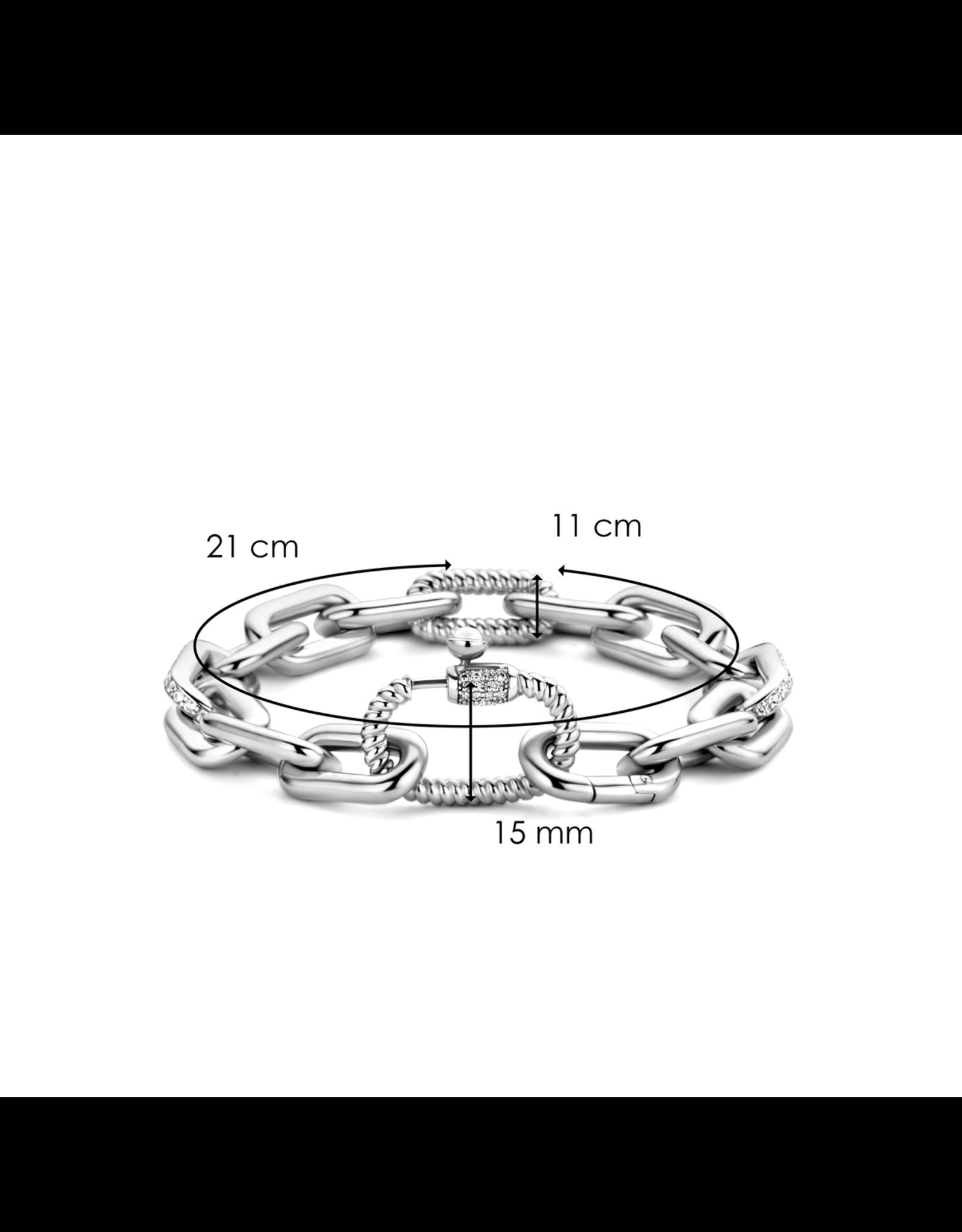 Bold Chunky Silver Link Bracelet- 2949ZI