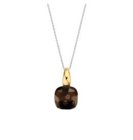 Tortoise Brown Yellow Gold Plated Pendant