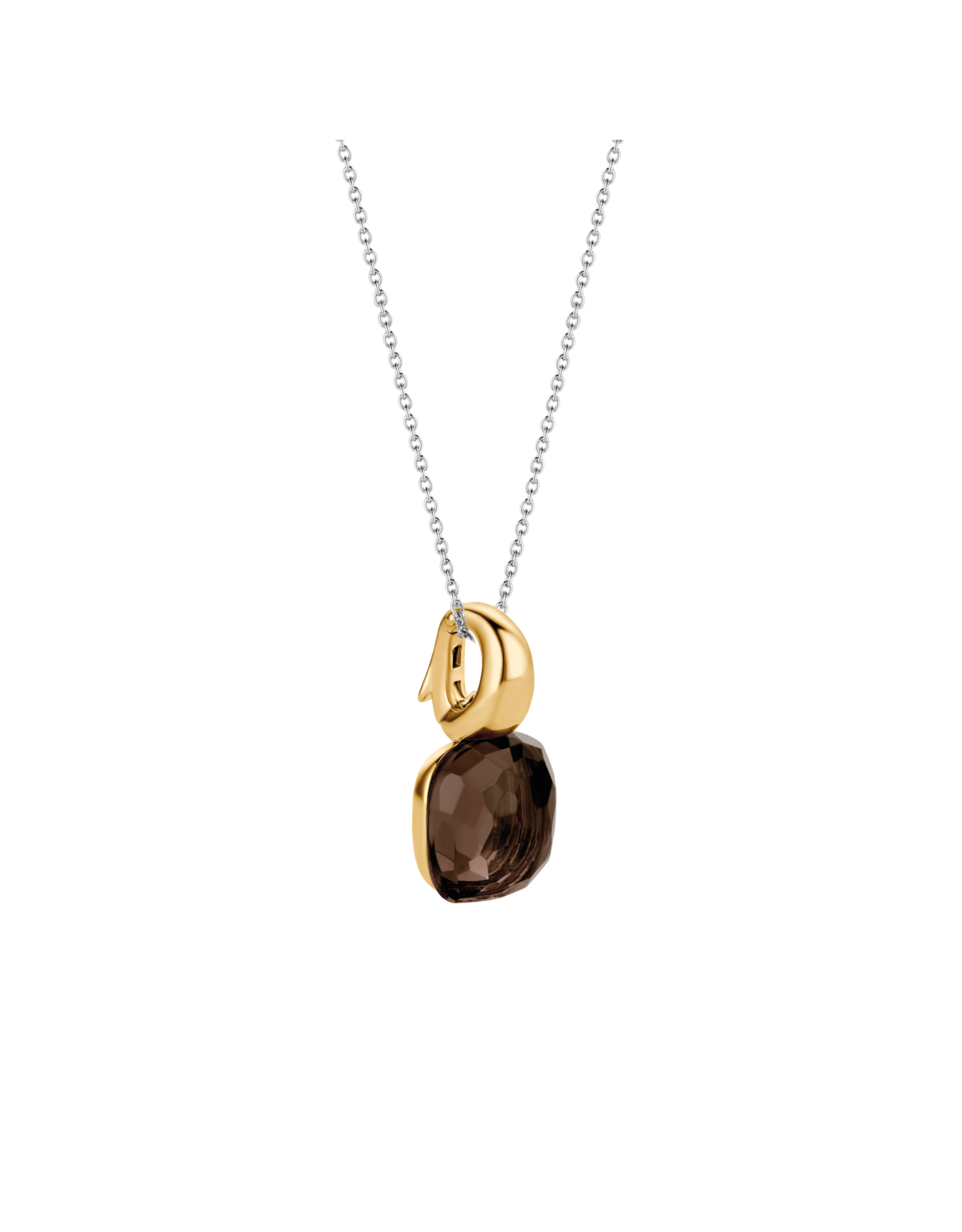 Tortoise Brown Yellow Gold Plated Pendant- 6785TB