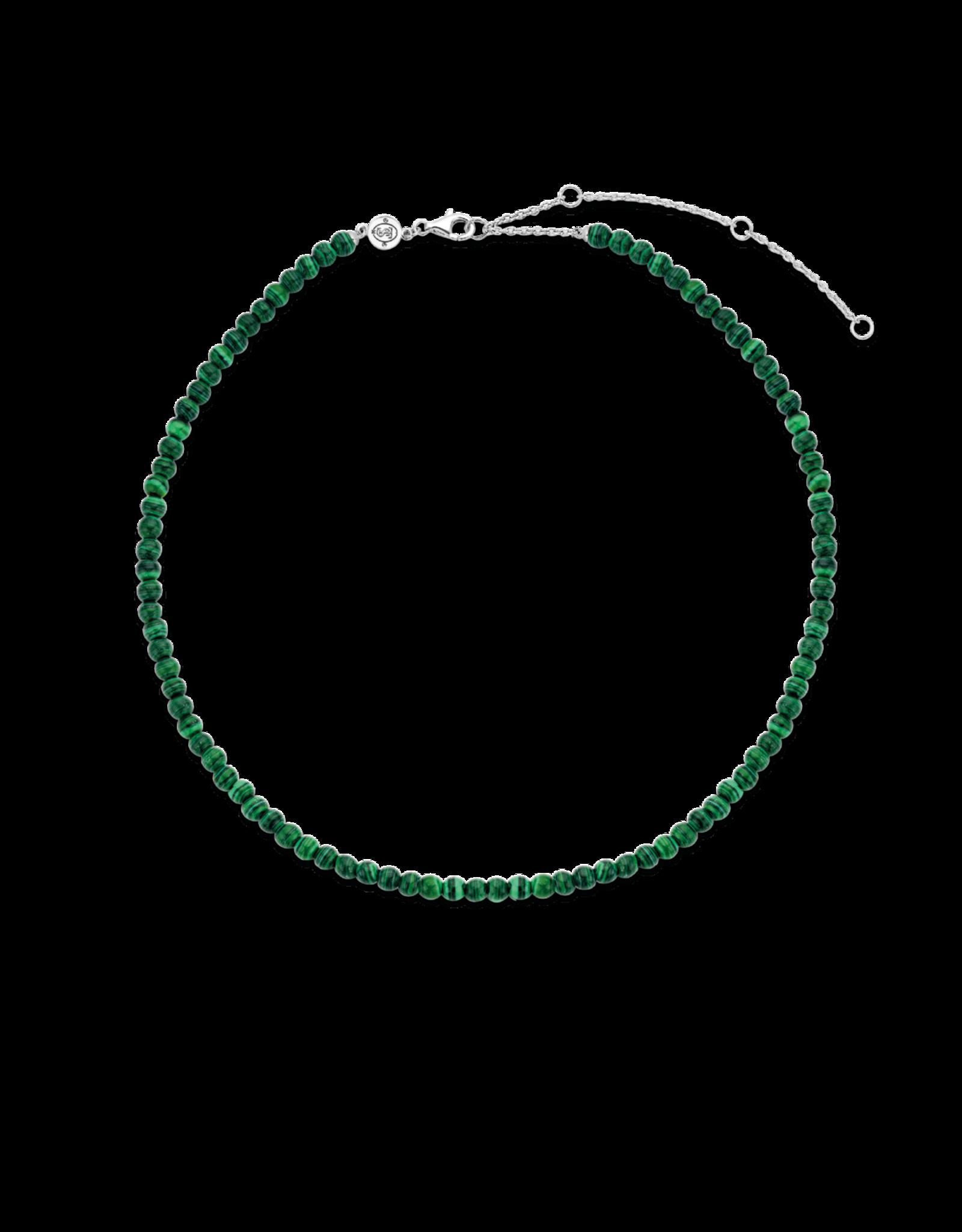 Malachite Beaded Necklace- 3916MA/42
