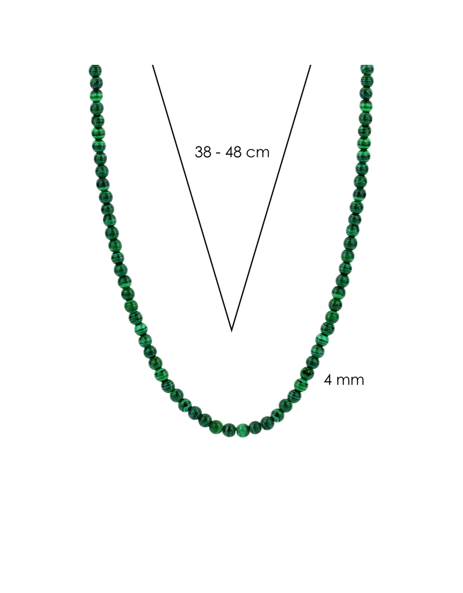 Malachite Beaded Necklace- 3916MA/42