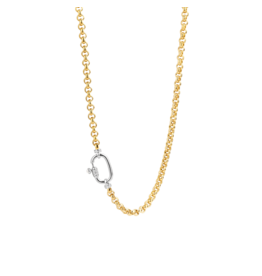 Yellow Gold Plated Chunky Rolo Necklace
