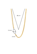 Yellow Gold Plated Chunky Rolo Necklace- 3958ZY/48