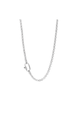 Chunky Silver Rolo Necklace- 3958ZI/48