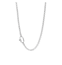 Chunky Silver Rolo Necklace