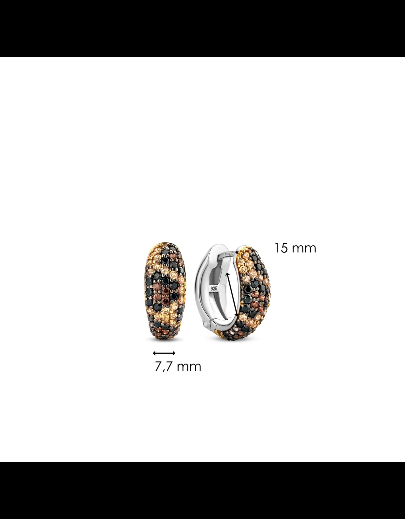 Leopard Print Huggie Earrings- 7837TU