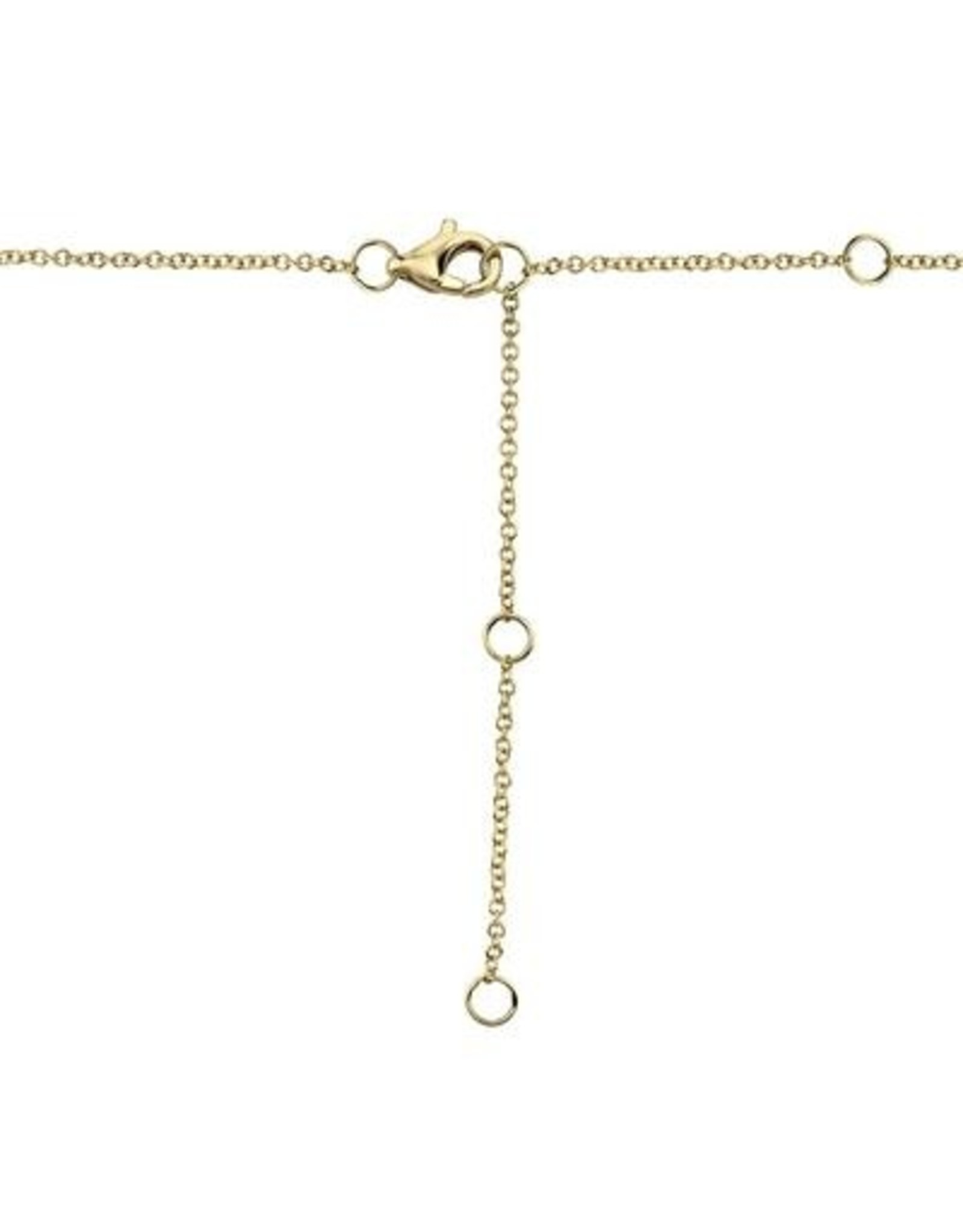 14K Yellow Gold Entwined Circle Diamond Necklace, D: 0.15ct