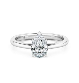 14K W/G Pear Shaped Solitaire Engagement Ring