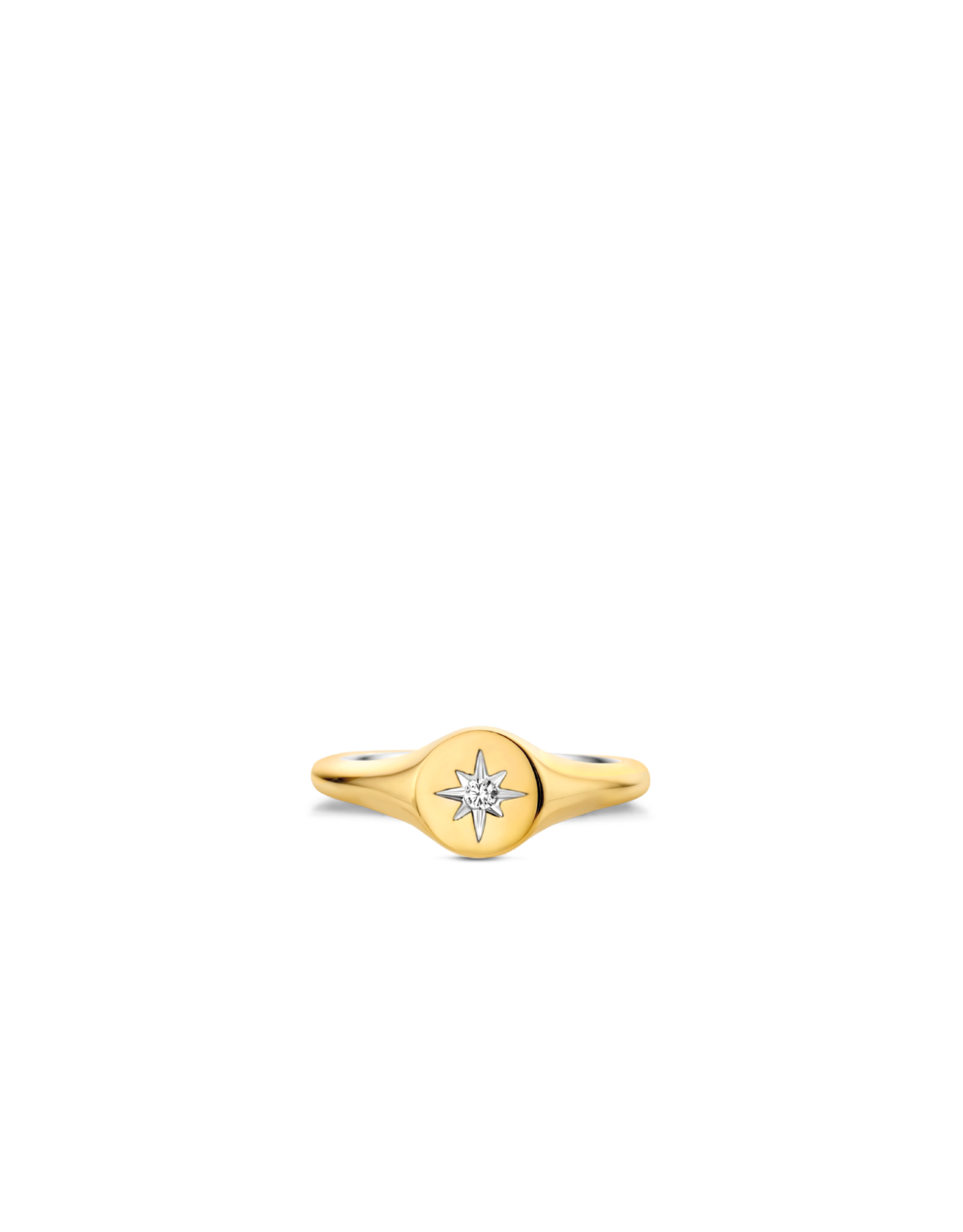 Yellow Gold Plated Guiding Star Ring- 12199ZY/54