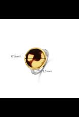 Tortoise Print Disc Ring - 12208TU/58