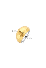 Yellow Gold Plated Geometric Faceted Ring- 12200SY/56