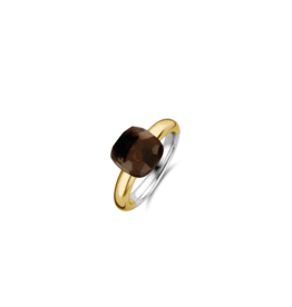 Tortoise Brown Yellow Gold Plated Ring