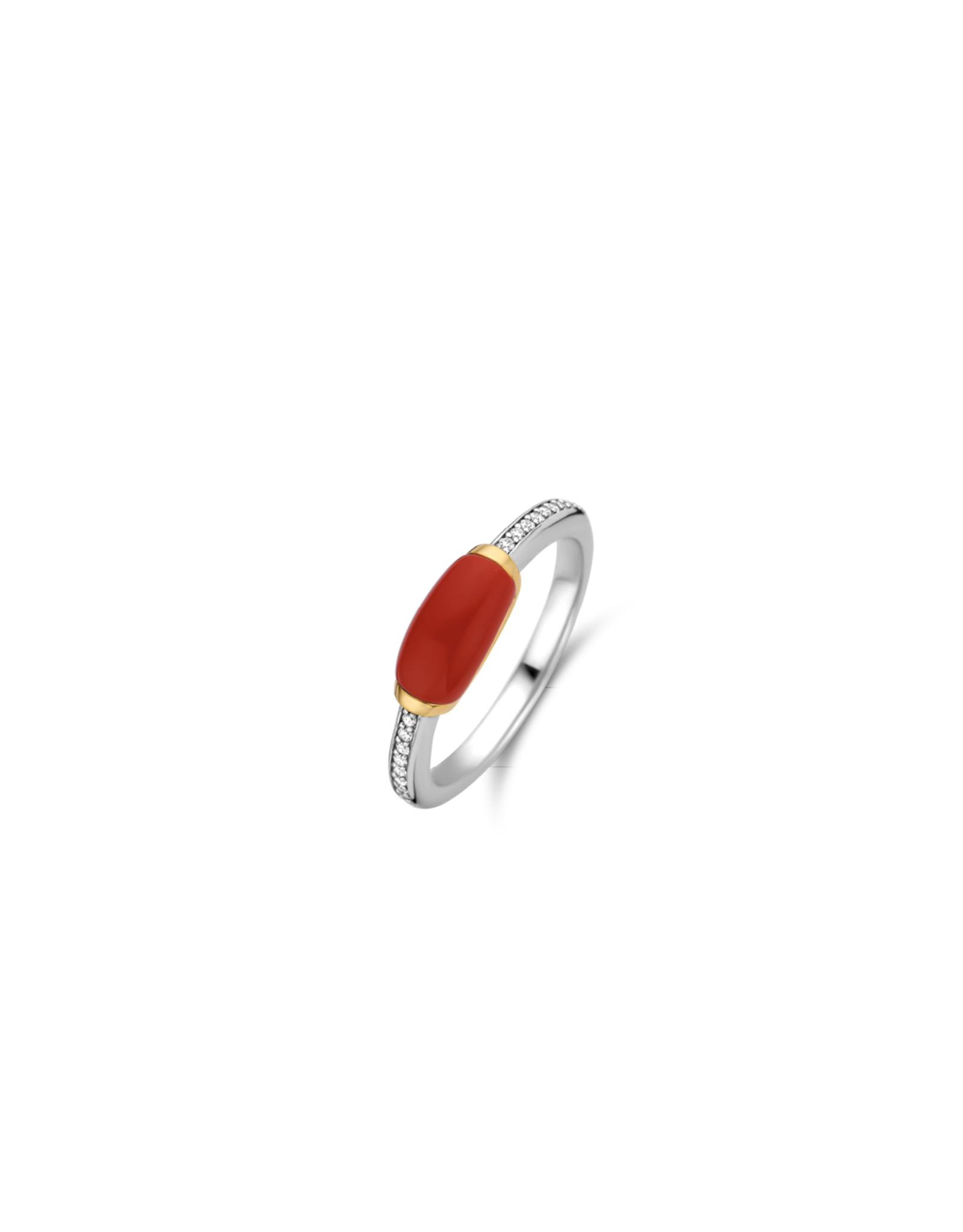 Two tone Coral Stackable Ring- 12191CR/56