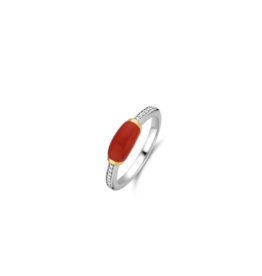 Two tone Coral Stackable Ring
