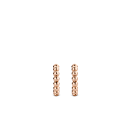 Rose Gold Bubble Hoop Earrings