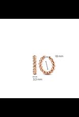Rose Gold Bubble Hoop Earrings- 7825SR