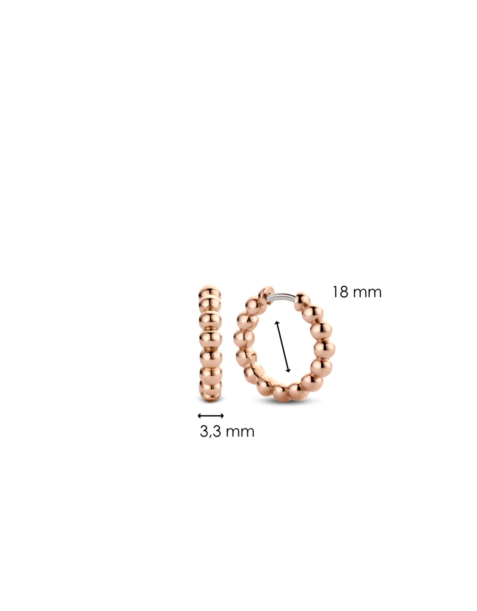 Rose Gold Bubble Hoop Earrings- 7825SR