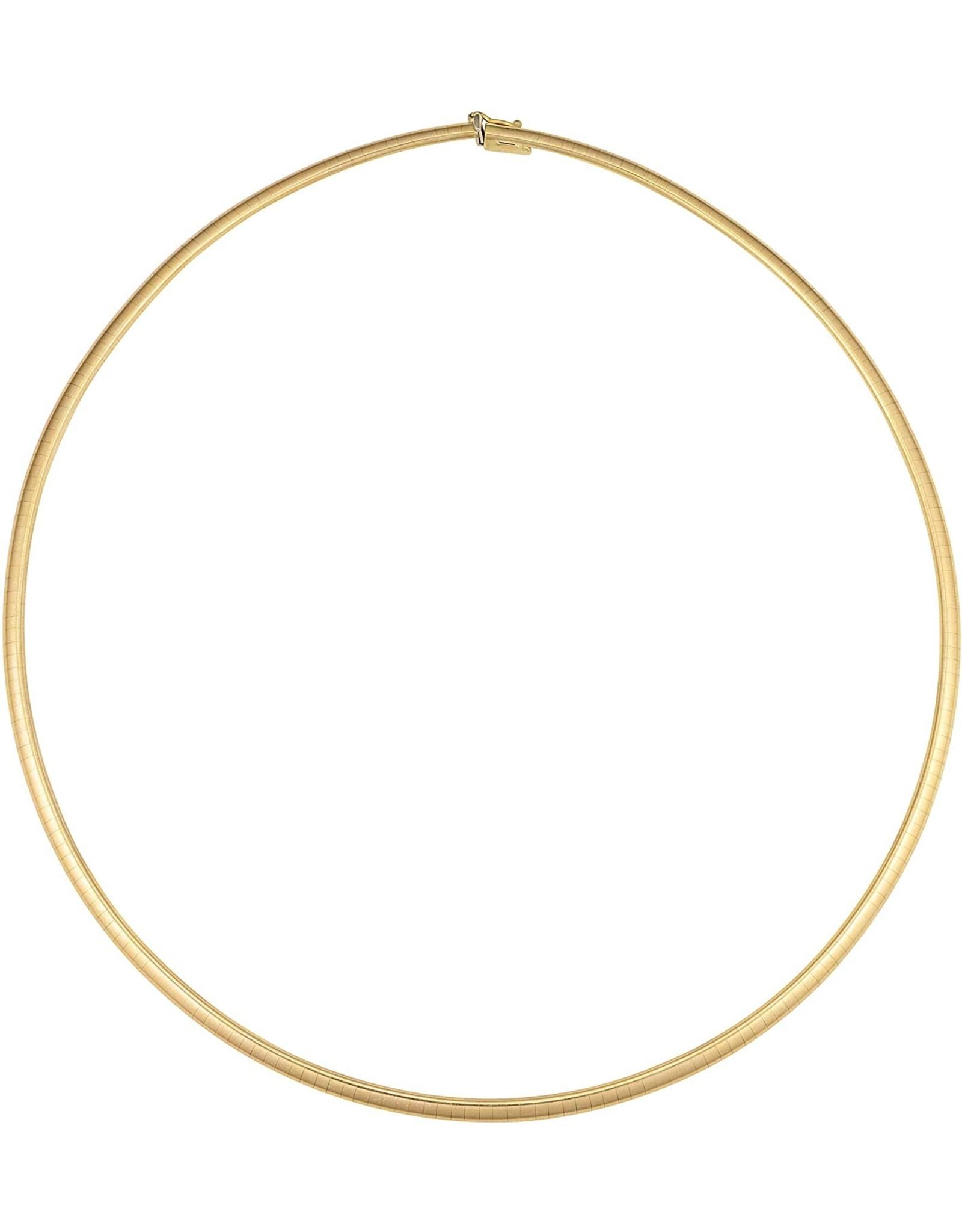 """18K Y/G 3mm Omega Necklace, 16"""""""