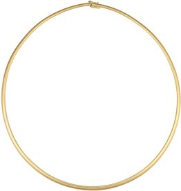 18K Y/G 3mm Omega Necklace