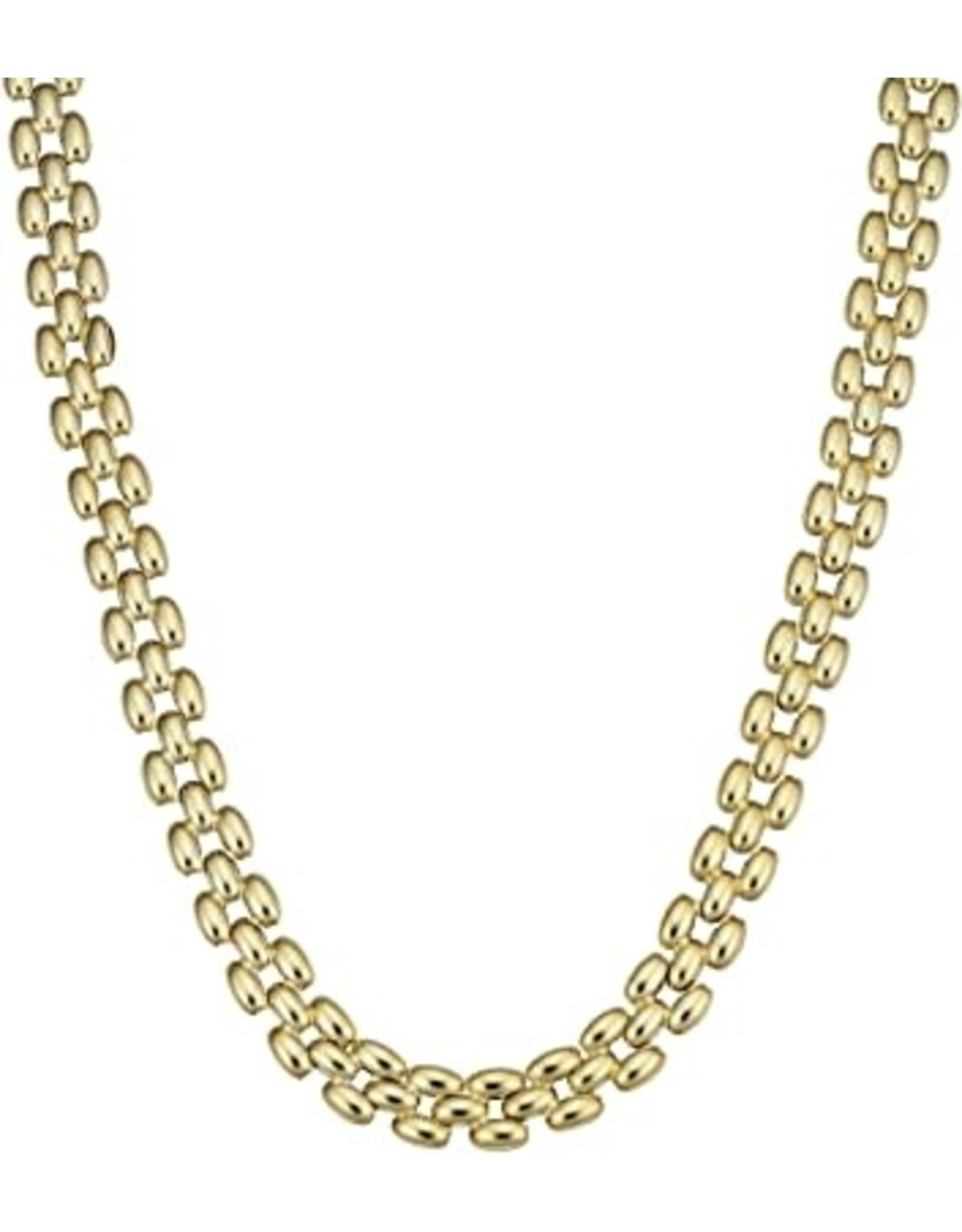 """14K Yellow Gold Panther Necklace, 16"""""""