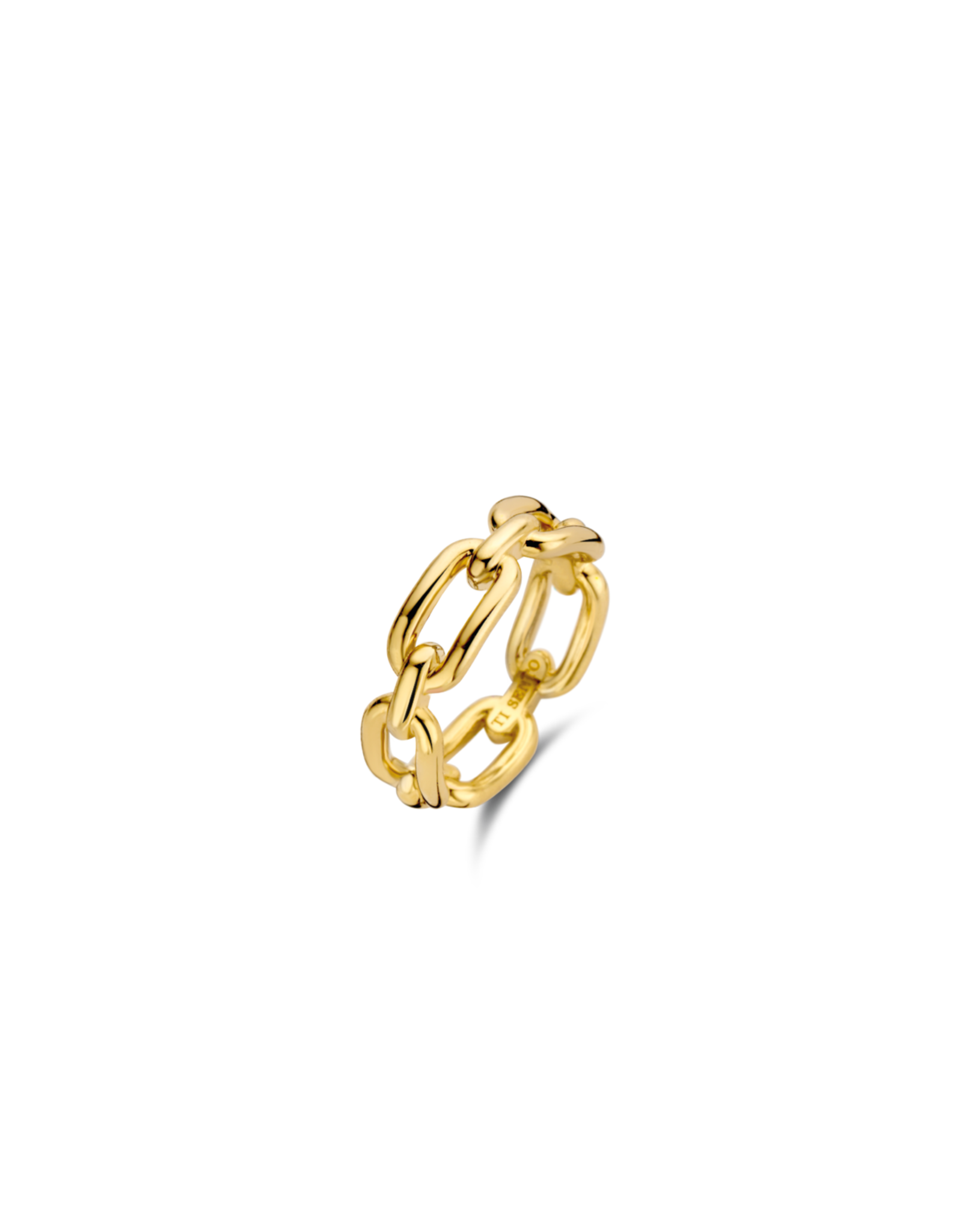 Yellow Gold Plated Paperclip Ring- 12205SY