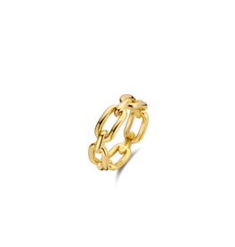 Yellow Gold Plated Paperclip Ring