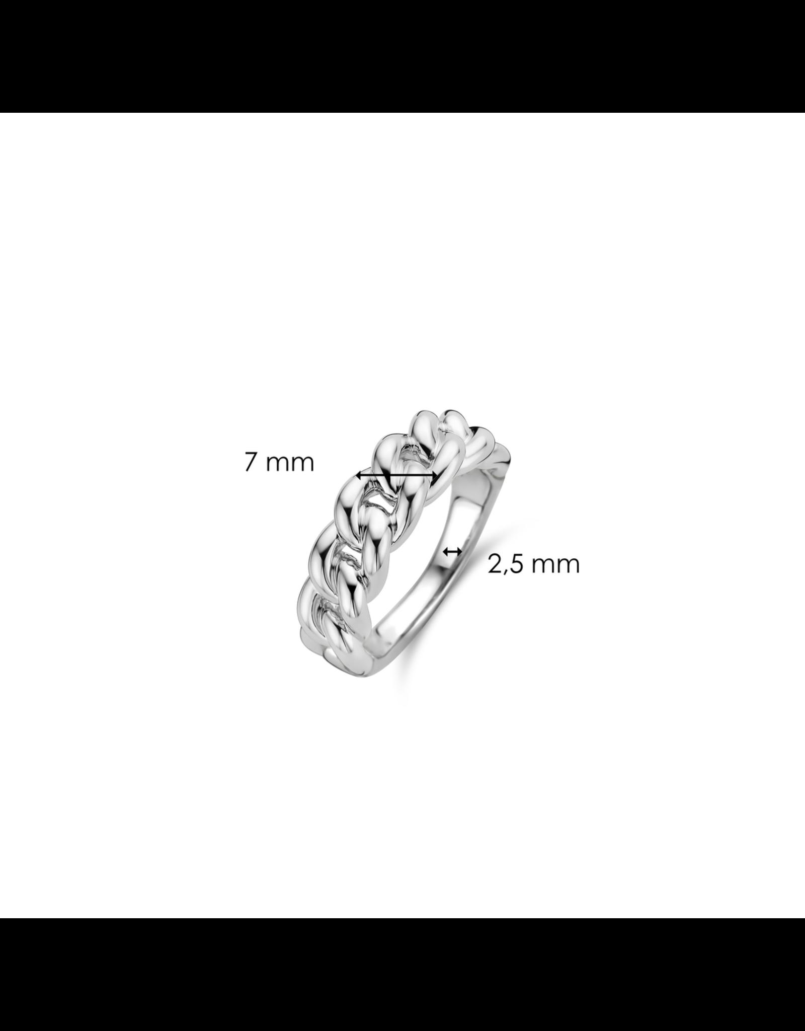 Silver Miami Cuban Link Ring- 12209SI