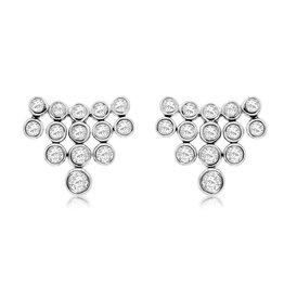 14K W/G Cascade Diamond Fashion Stud Earrings