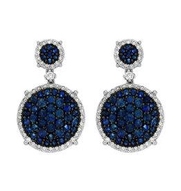 14K W/G Sapphire and Diamond Dangle Earrings