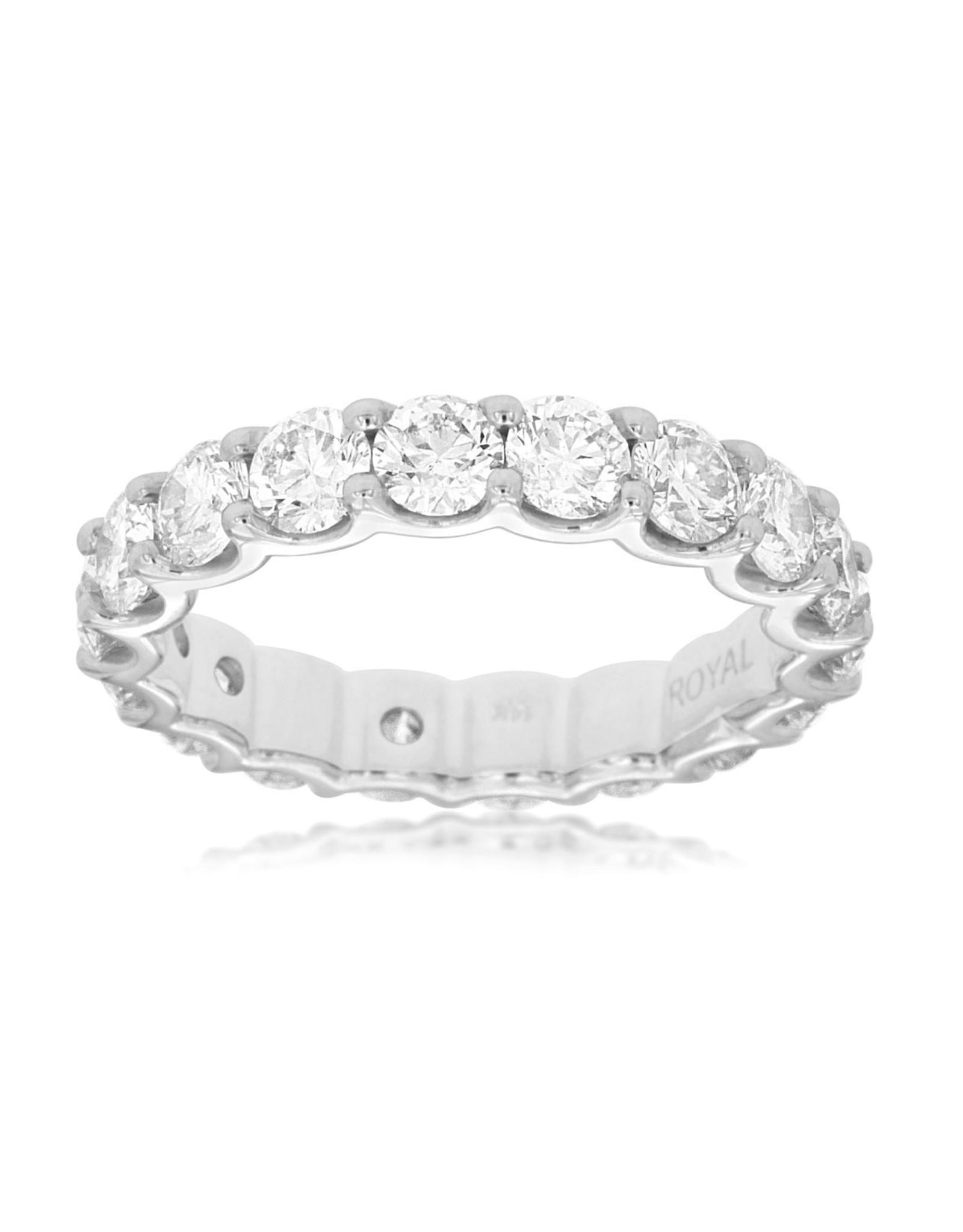 14K White Gold Diamond Eternity Ring, D: 3.50ct