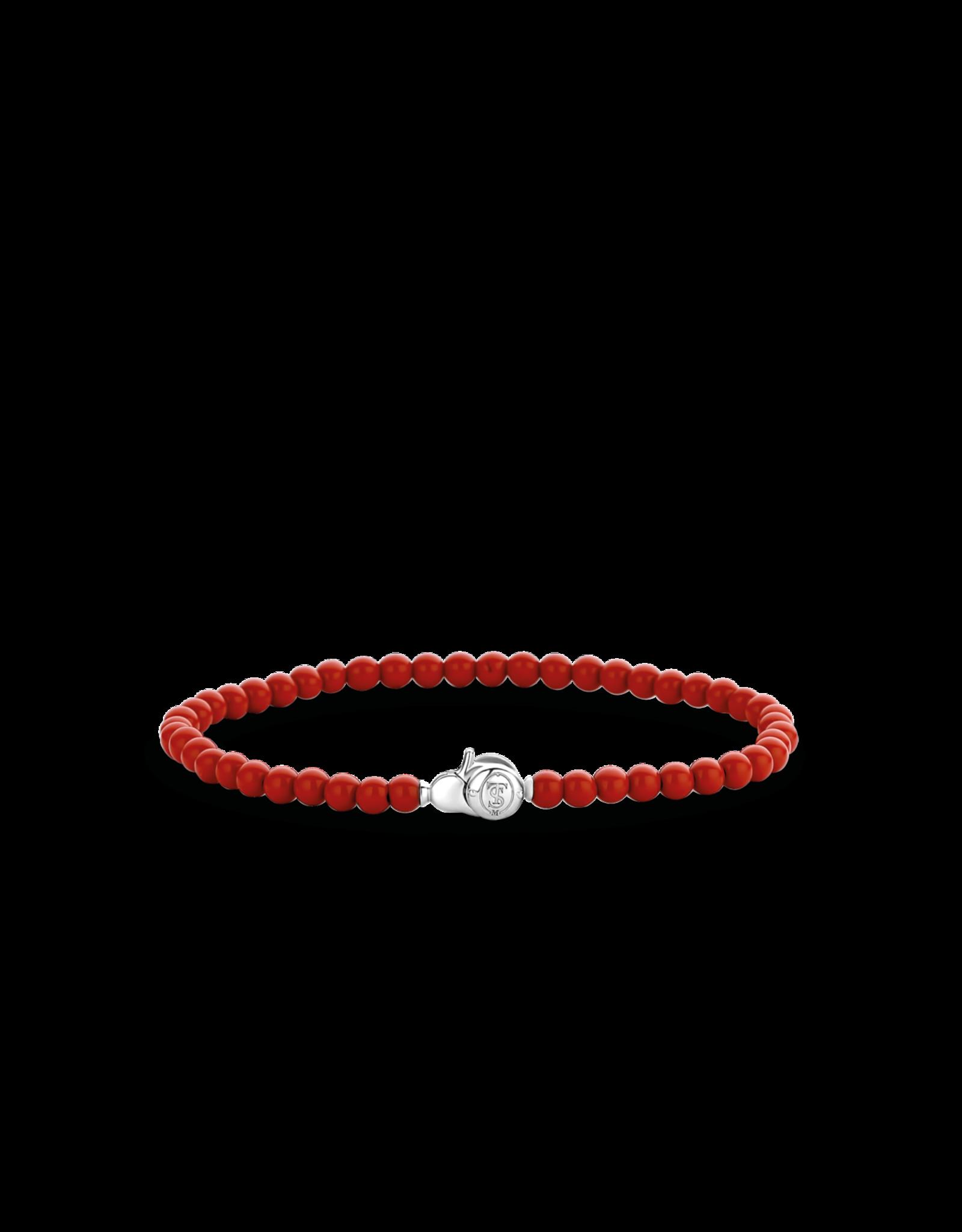 Dainty Coral Beaded Bracelet - 2908CR