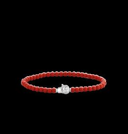 Dainty Coral Beaded Bracelet