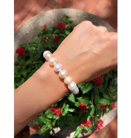 Fresh Water Pearl Stretch Bracelet, 10.5mm