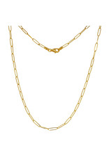 """14K Yellow Gold Paperclip Necklace, 18"""", 7.65dwts"""