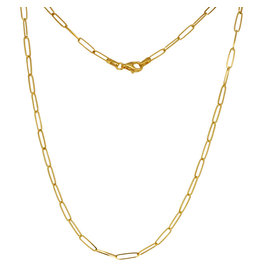14K Y/G Paperclip Necklace, 18""
