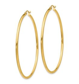 14K Y/G Thin Lightweight Hoops, 1.50""