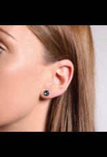 Grey-Blue Stud Earrings (6mm)- 7808GB