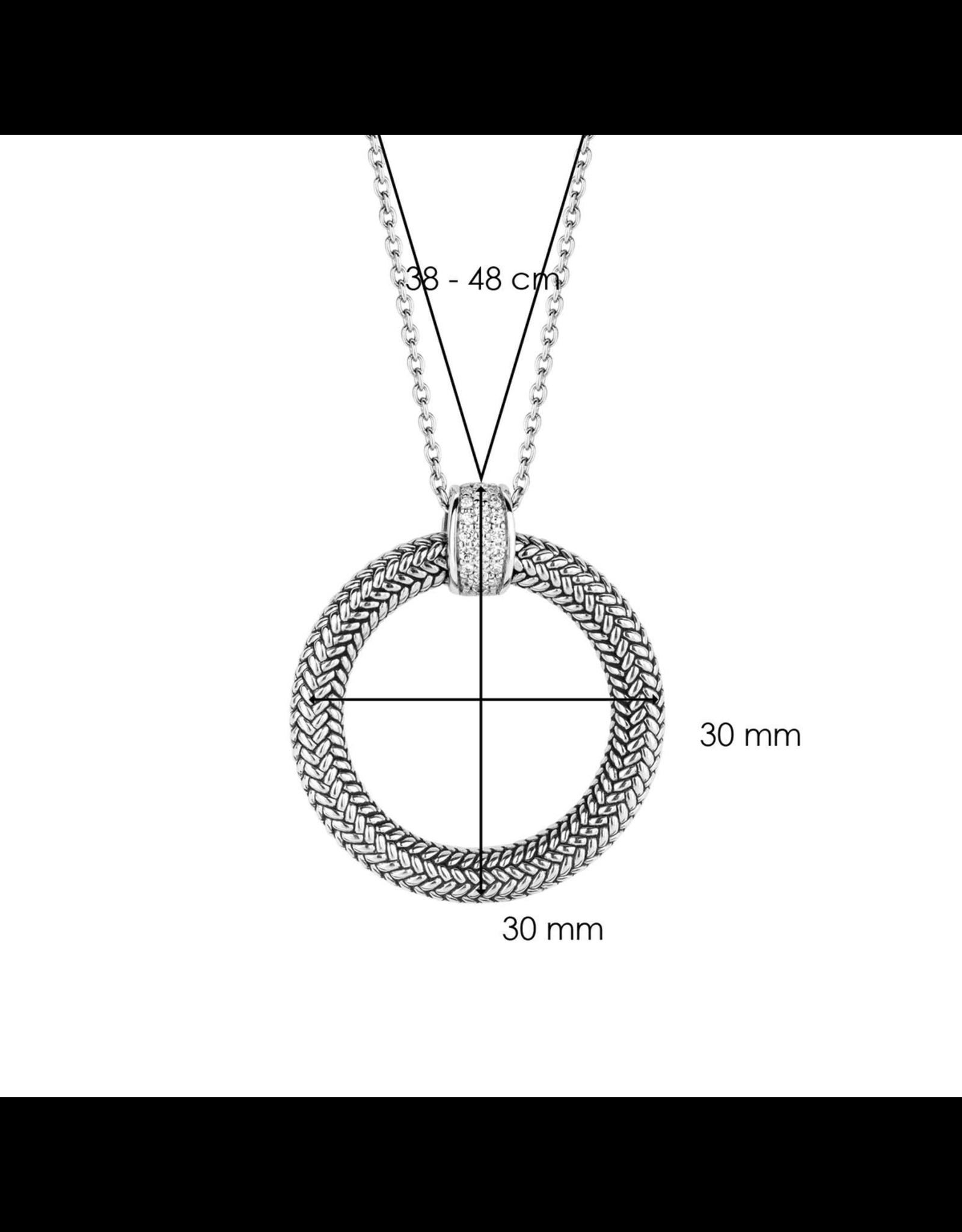 Braided Circle Necklace- 3925ZI/48