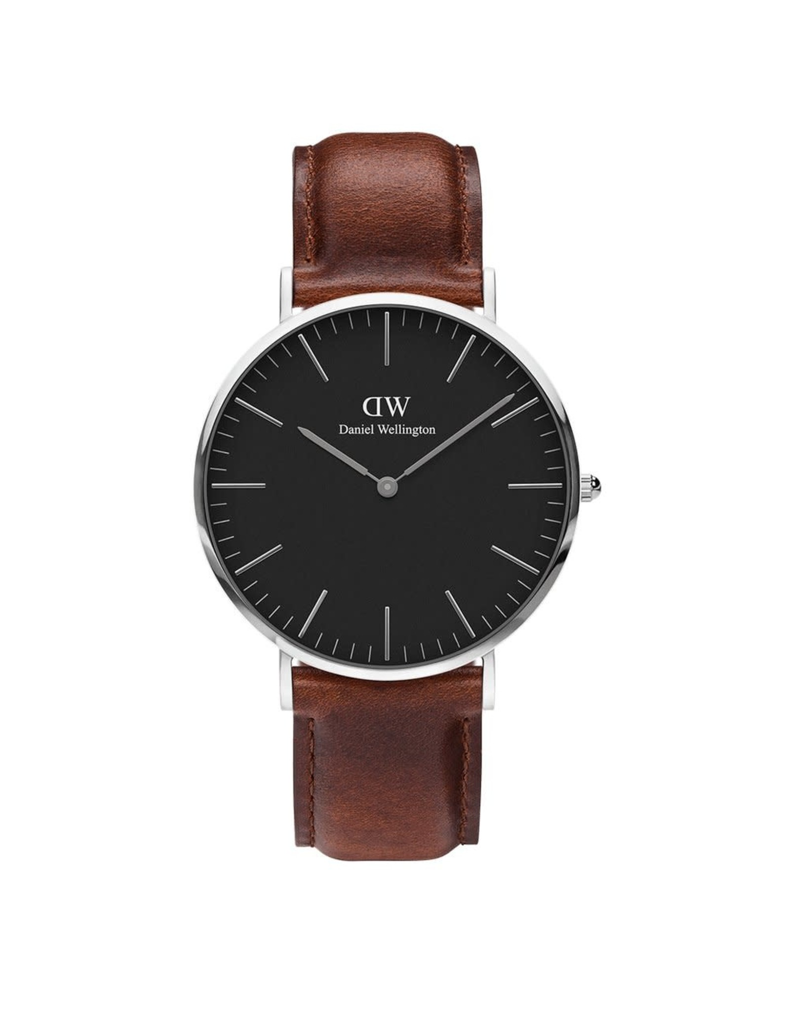 Silver Classic Black St. Mawes- 36mm