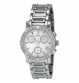 Ladies Bulova Diamond Bezel Chronograph Watch