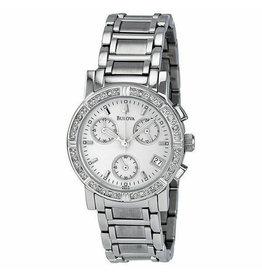 Ladies Bulova Diamond Bezel Chronograph Watch