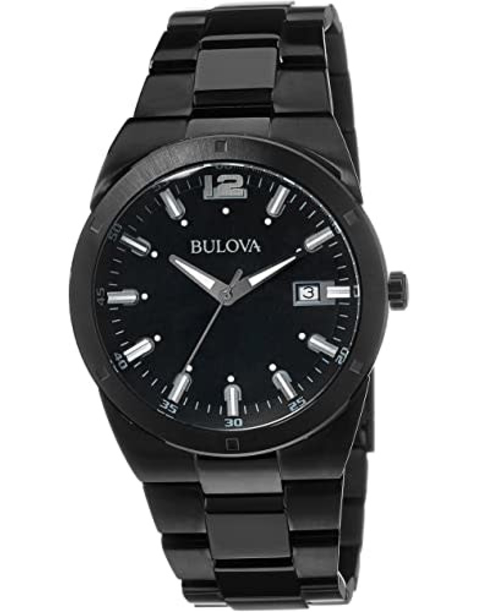 Men's Bulova Black Classic Display Watch
