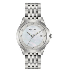 Classic Style Bulova Watch with  Diamond Dial
