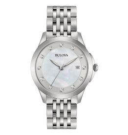 Classic Style Bulova Watch with  Diamond Dial