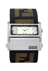 Fendi Zip Code Watch with Diamond Dial, 60 diamonds